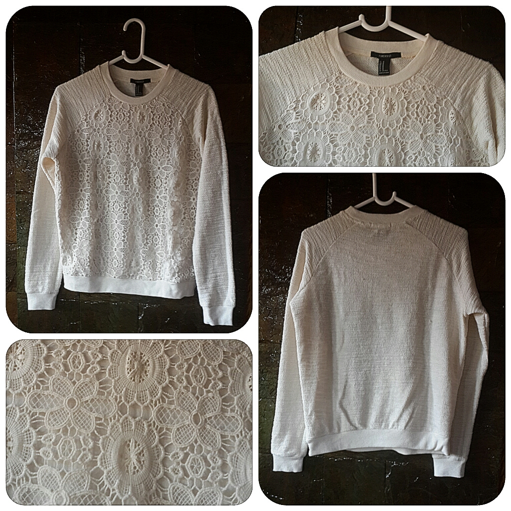Forever 21 White Lace Jumper