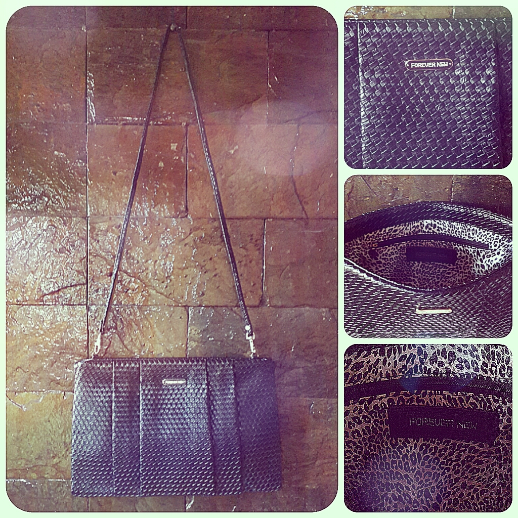Forever New Oversized Weave Pattern Clutch