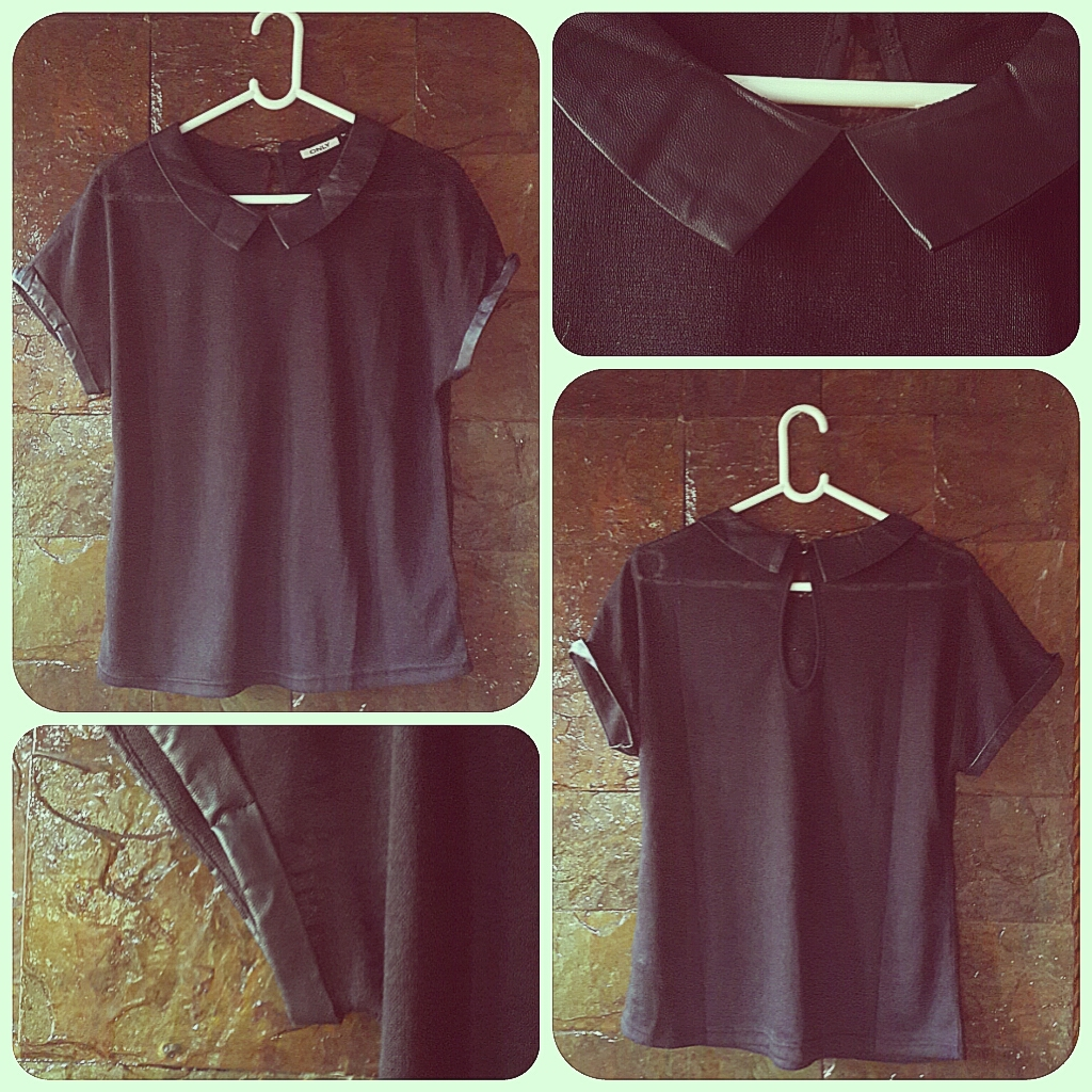 Only Black collared Top
