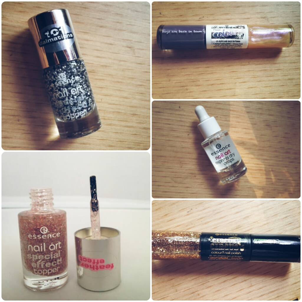 essence nail polishes & express dry drops