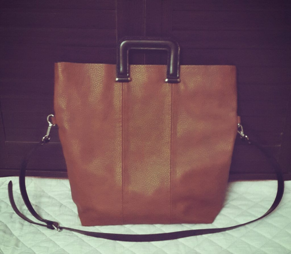Zara Shopper Bag with Square Handles