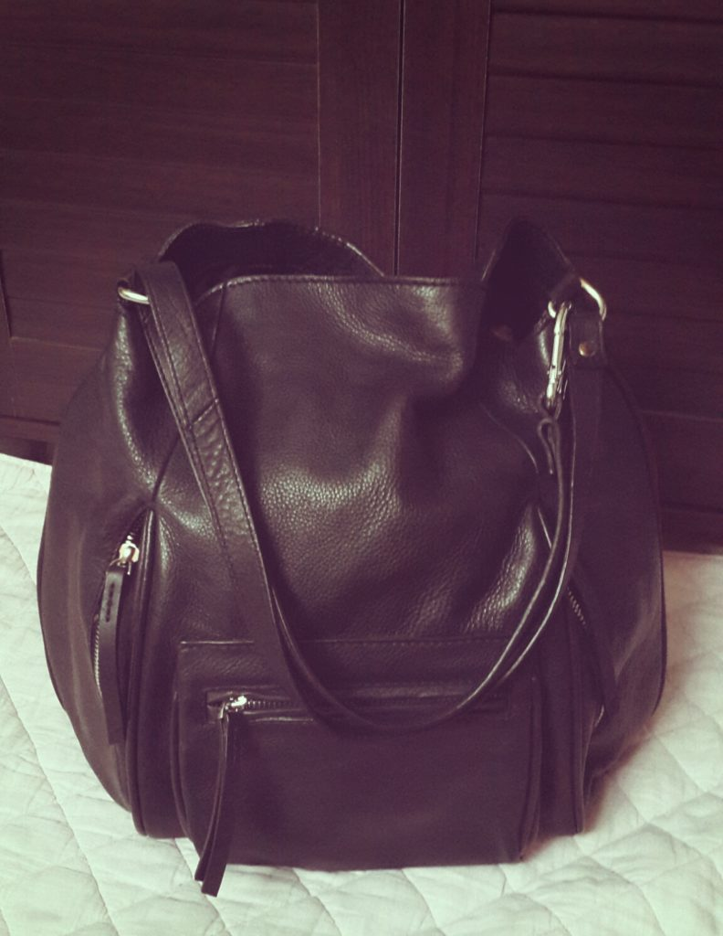 Zara Black Leather Bag