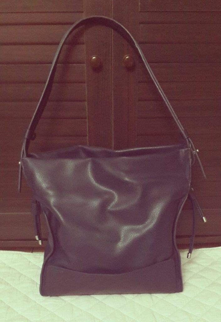 zara blue bucket bag with drawstring