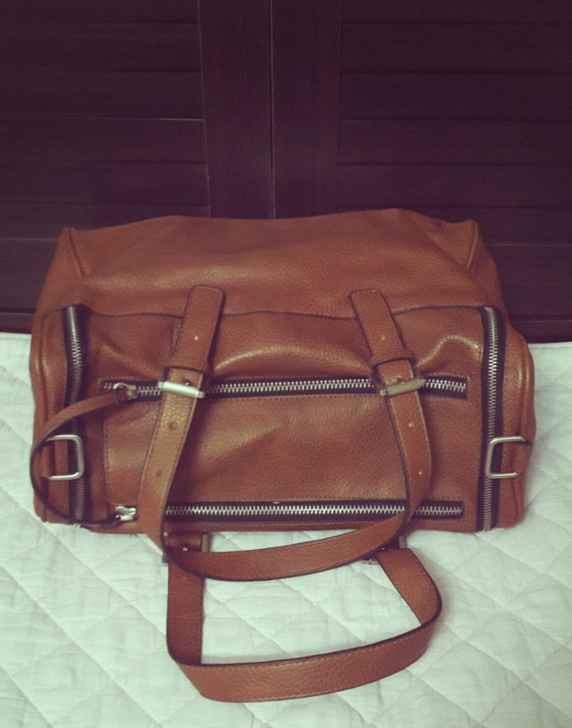 Zara Oversized Bowling Bag with Zips