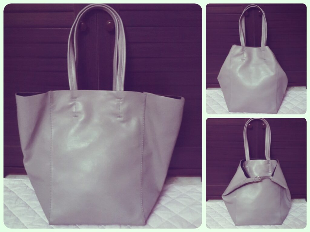 zara grey soft shopper bag