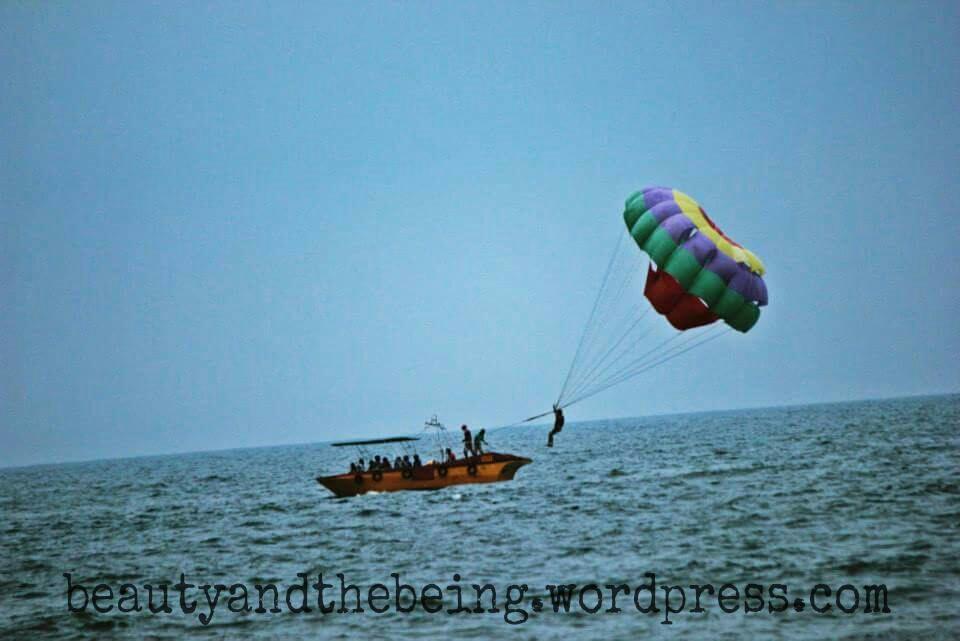 Para Sailing, Watersport @ Calangute, Goa