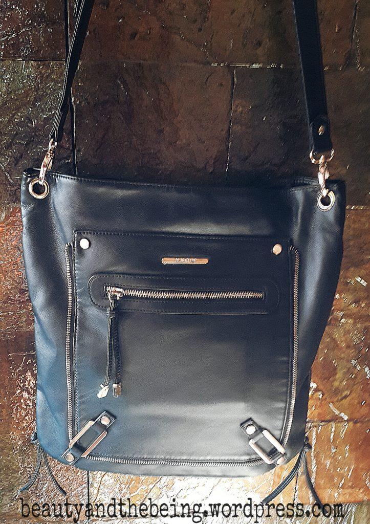 river island black sling bag