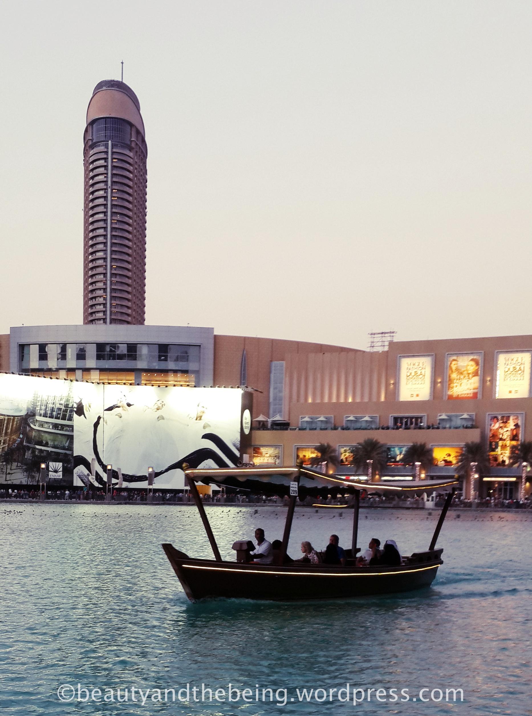 Abra ride at Burj Khalifa Lake