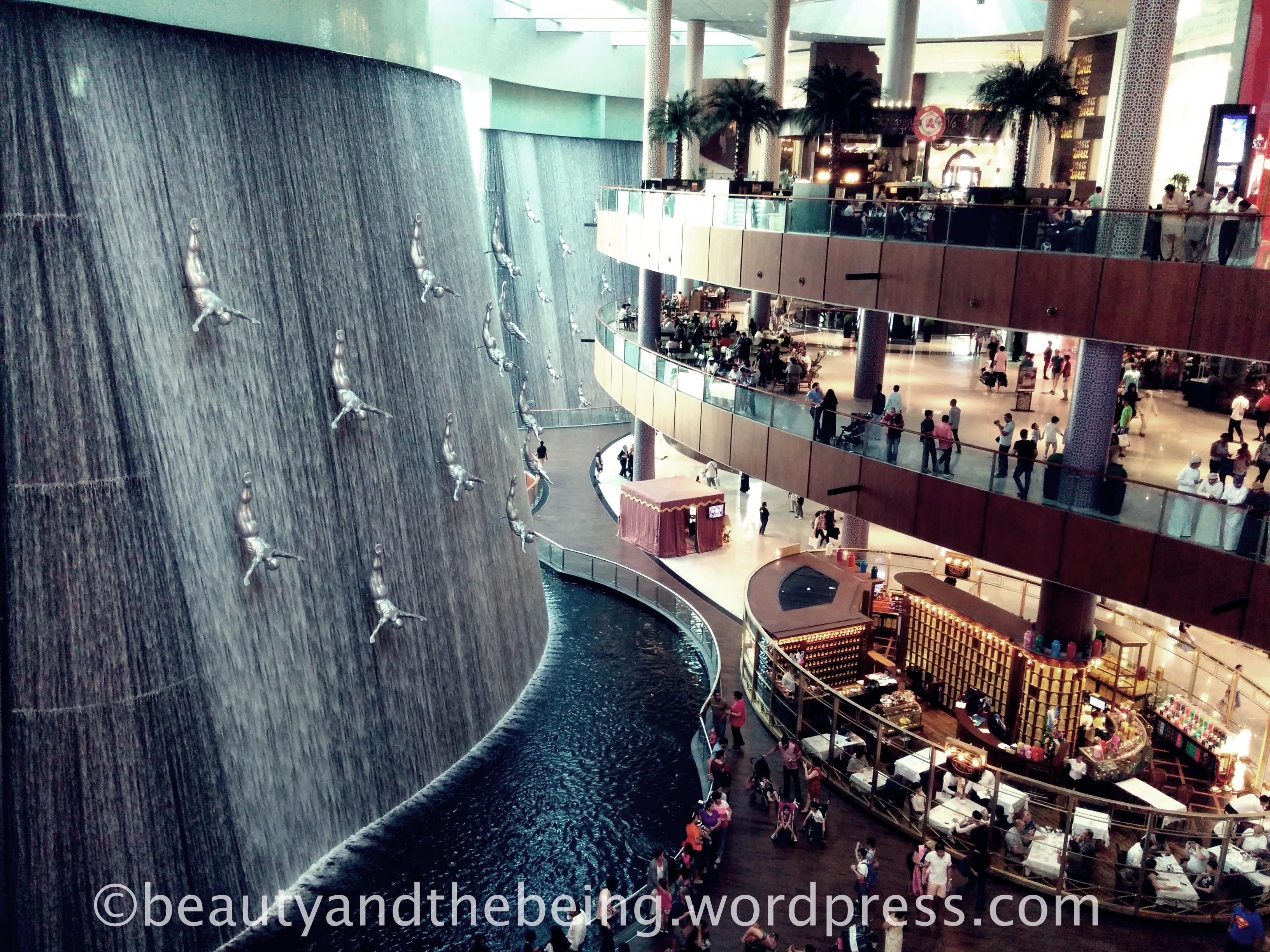 Dubai Mall Water Fall