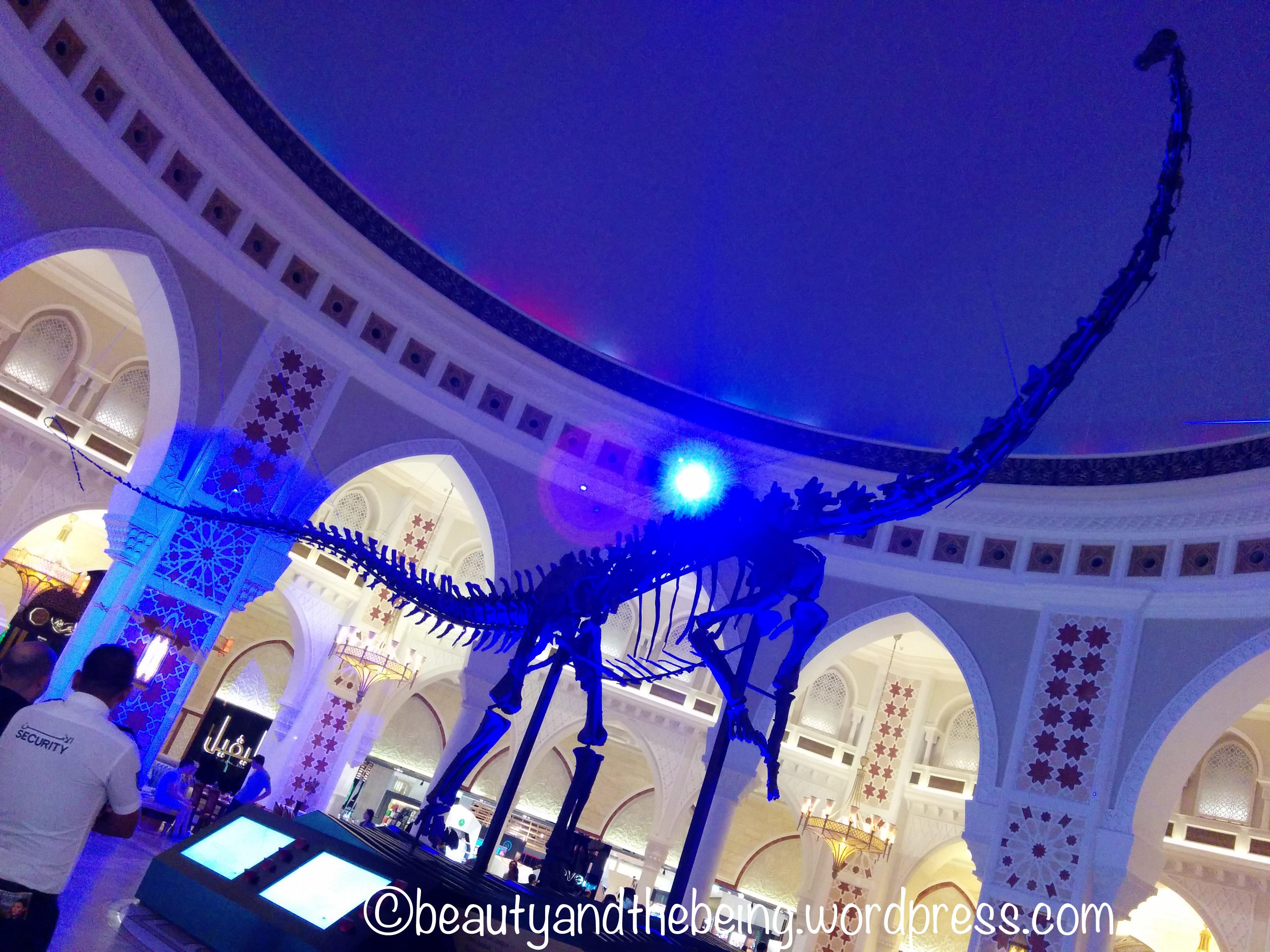 Dinosaur Skeleton inside Dubai Mall