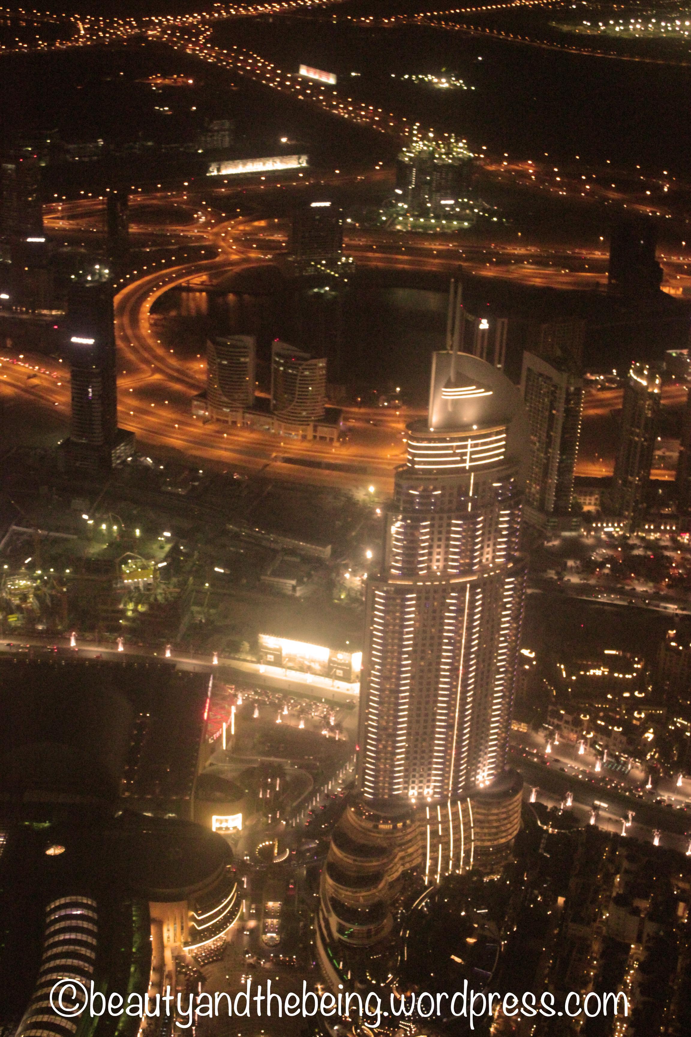 View of Address Hotel from Burj Khalifa