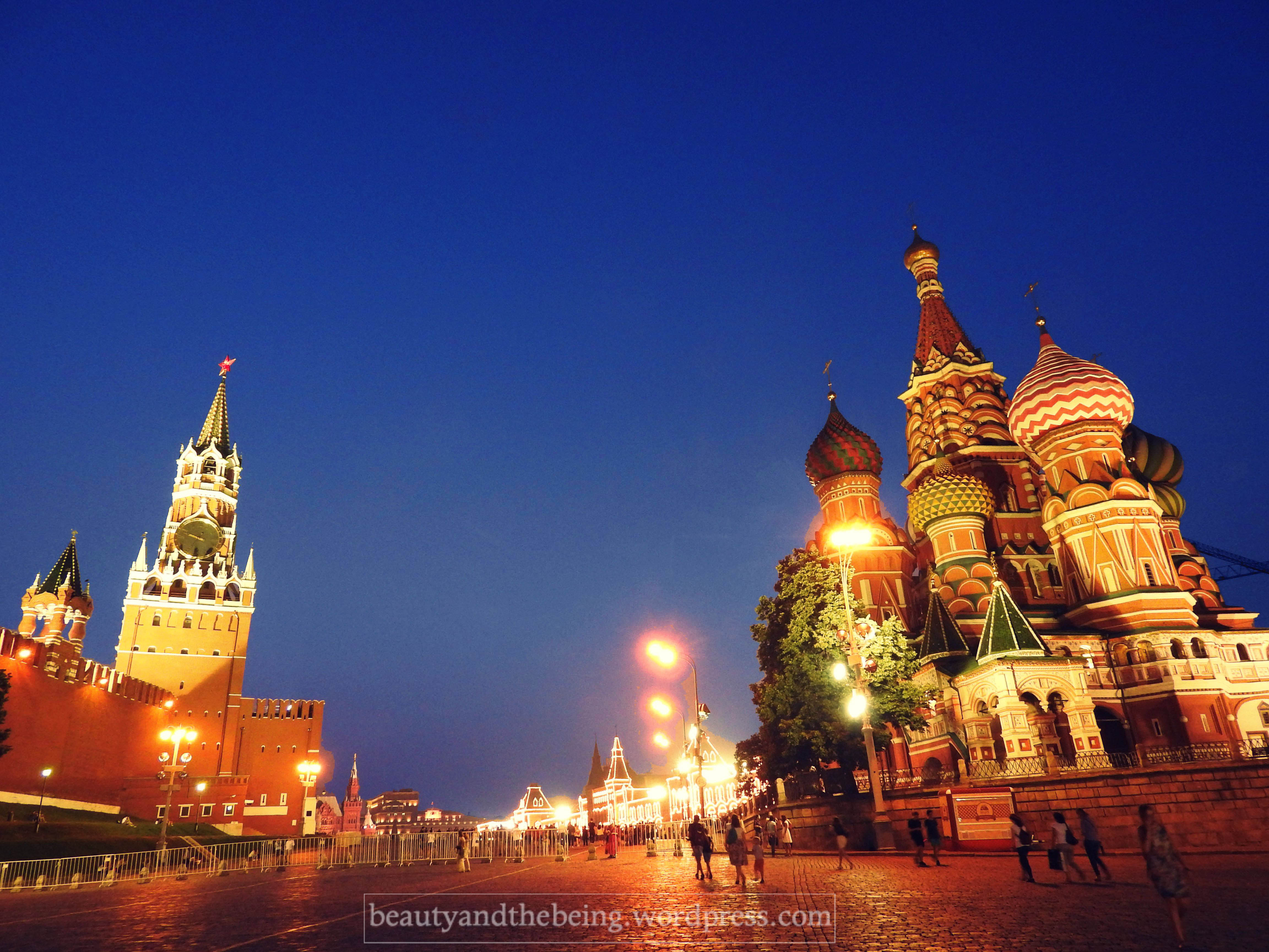 St. Basil's cathedral and the Spasskaya Tower.