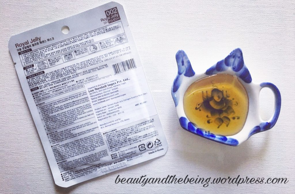 Dermal Royal Jelly Collagen Essence Mask Review