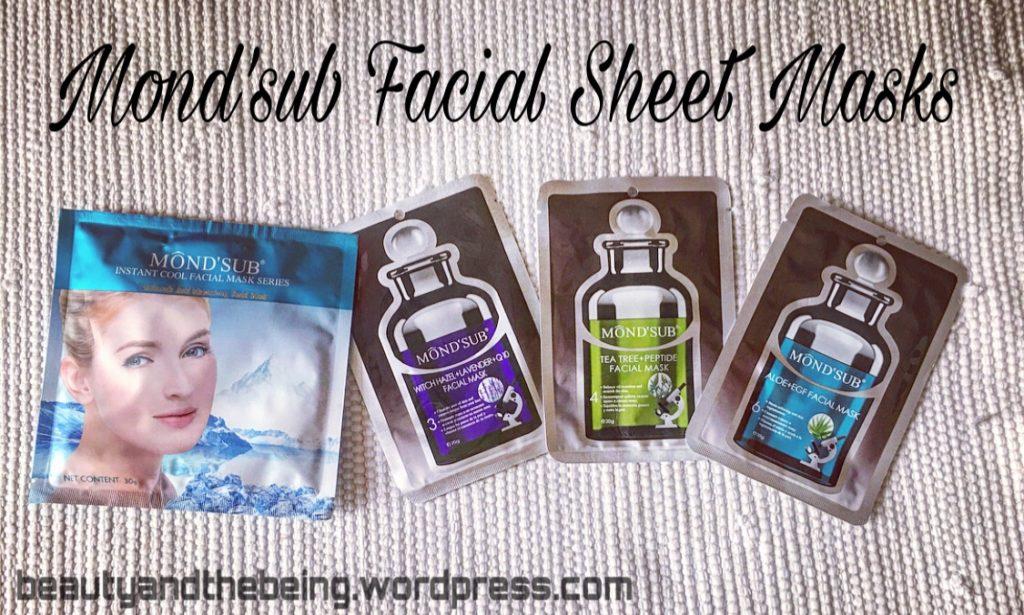 Mond'sub Facial Sheet Masks // Review