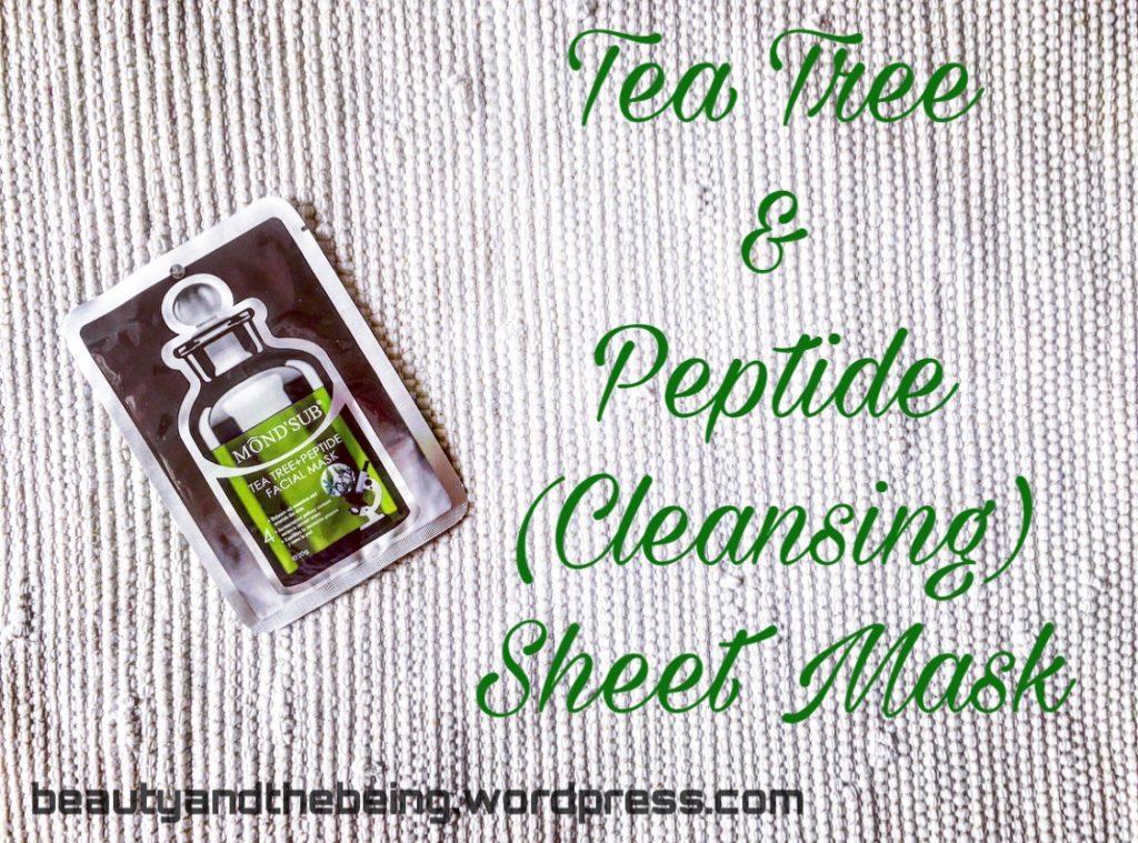 Mond'sub Tea Tree & Peptide Cleansing Facial Sheet Mask