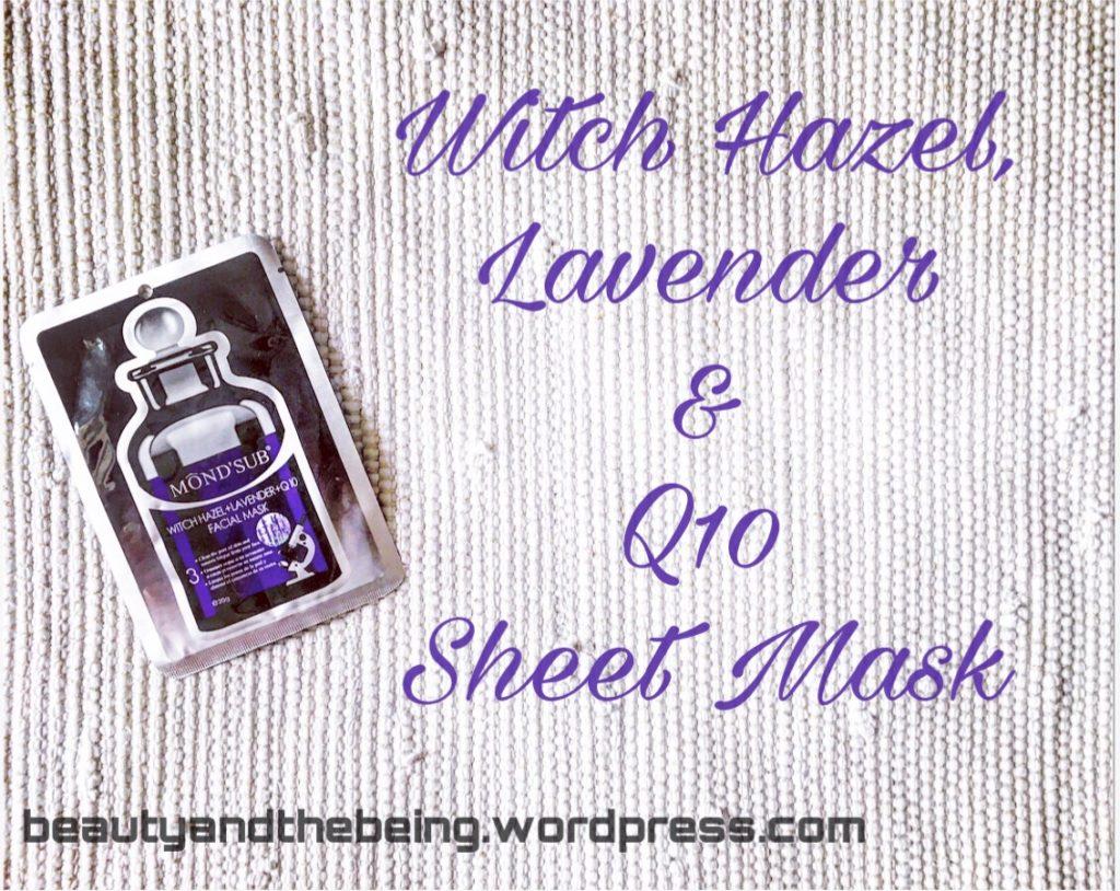 Mond'sub Witch Hazel, Lavender & Q10 Facial Sheet Mask