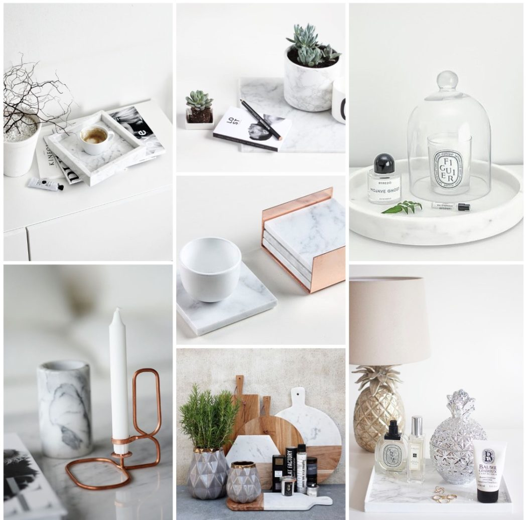 my home decor inspiration board + wish list + where to buy: marble