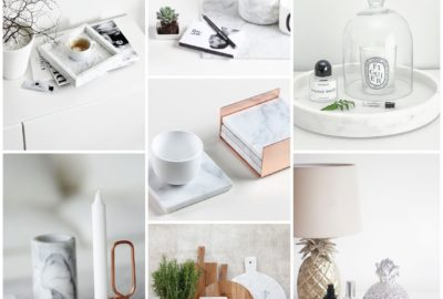 My Home Decor Inspiration Board + Wish List + Where To Buy: Marble, Wood & Copper Theme