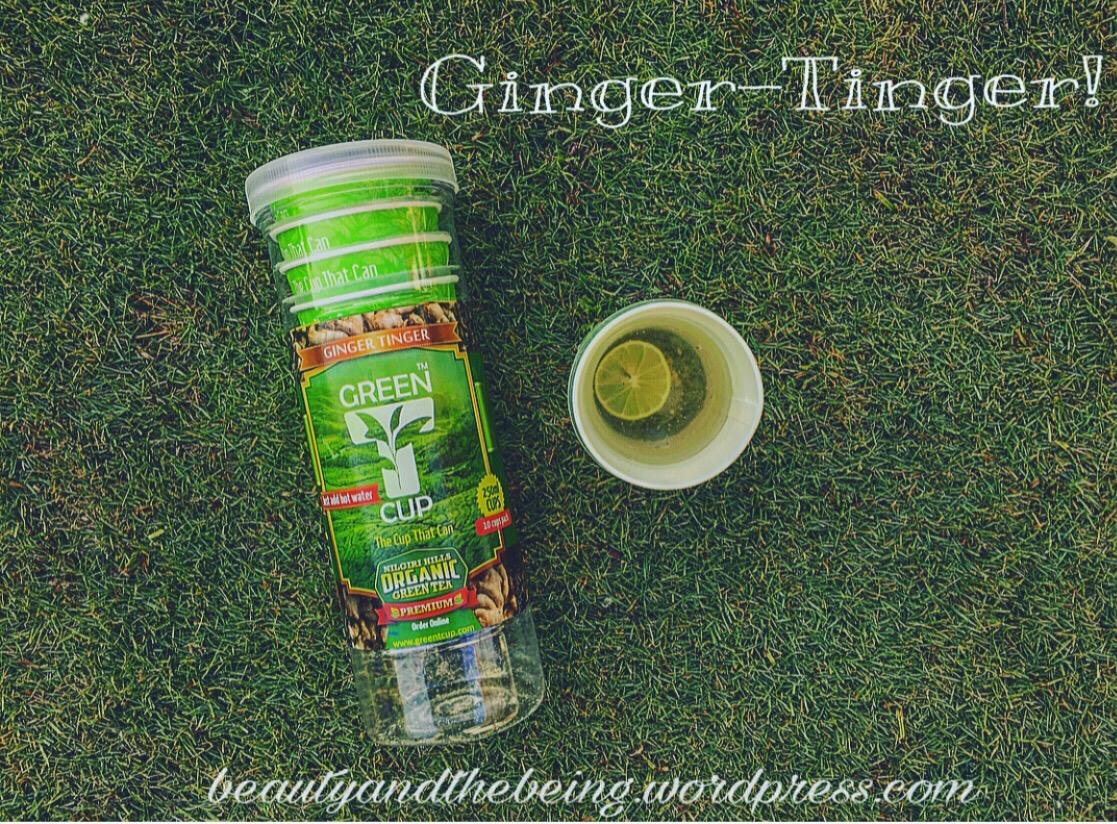 Green T cup Ginger Singer