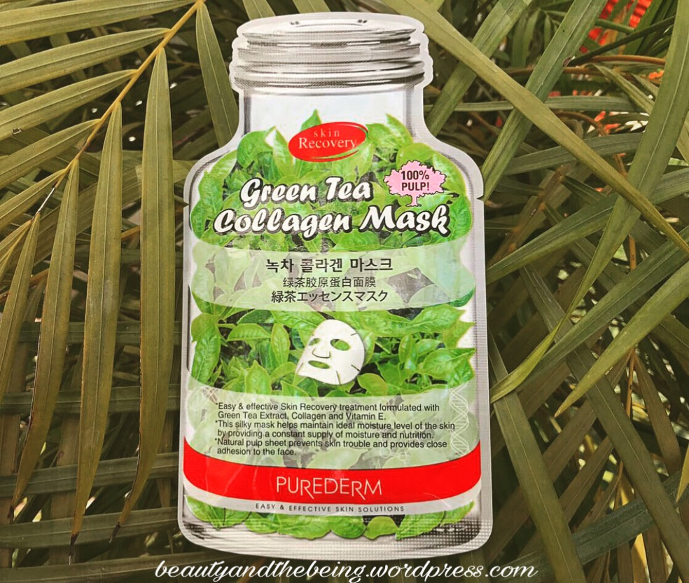 Purederm Green Tea Collagen Sheet Mask Review