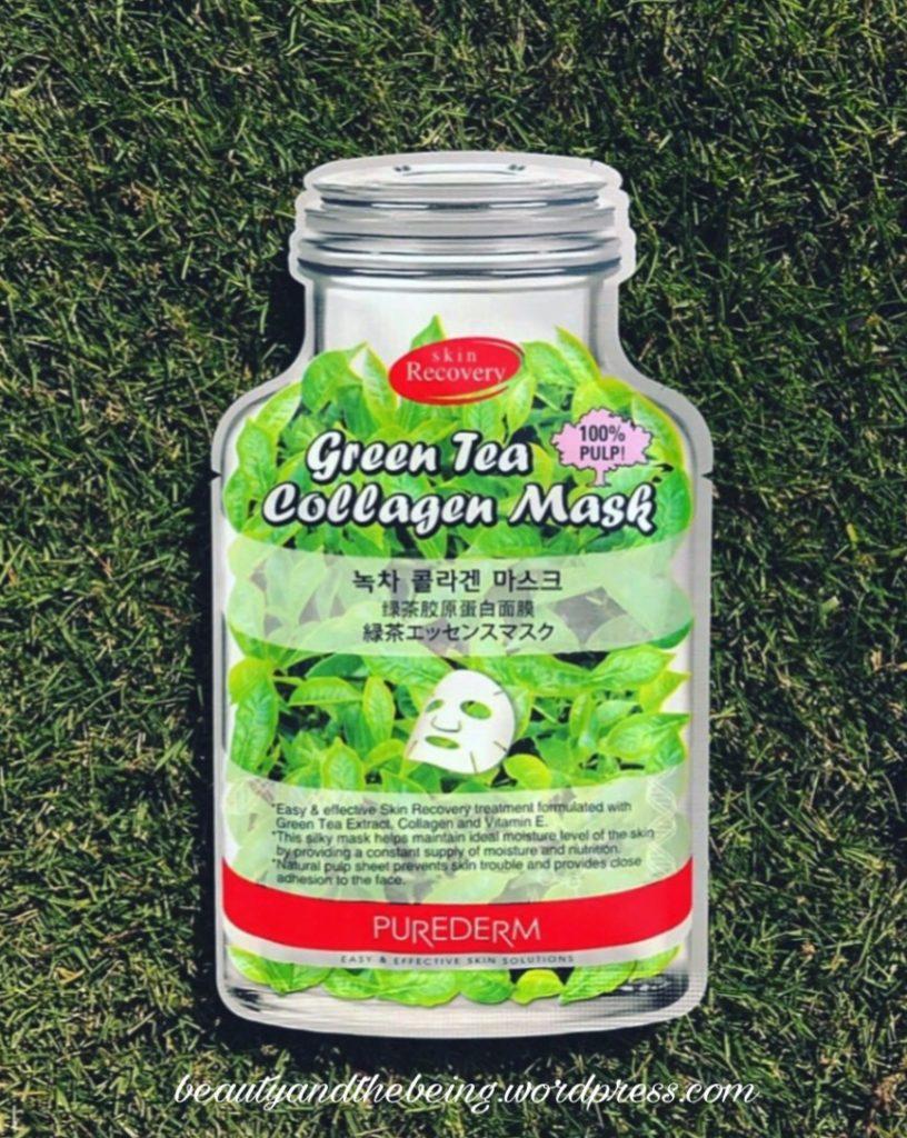 Purederm Green Tea Collagen Sheet Mask Review