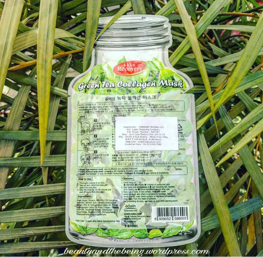 Purederm Green Tea Collagen Sheet Mask