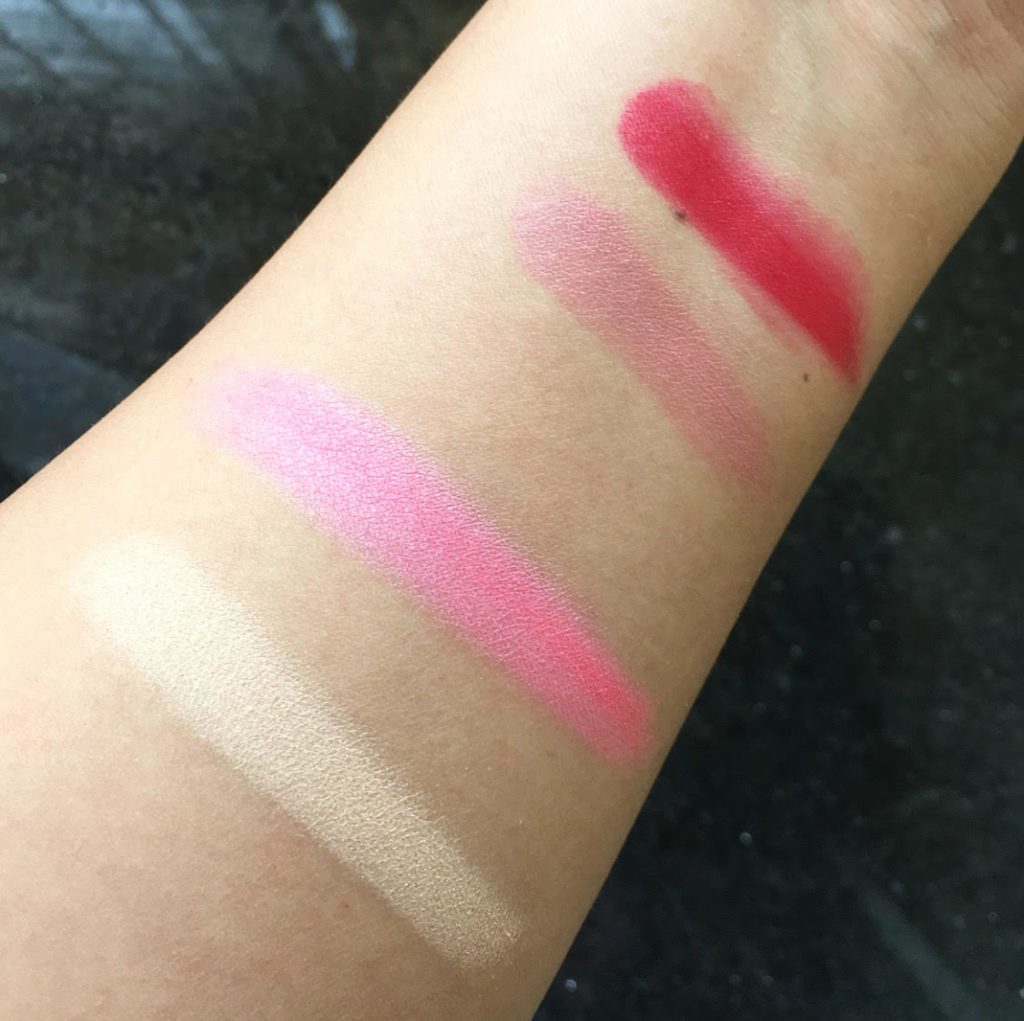TheADS Balm Jovi Rockstar Face Palette Review - Cheek & Lip swatches in Day Light