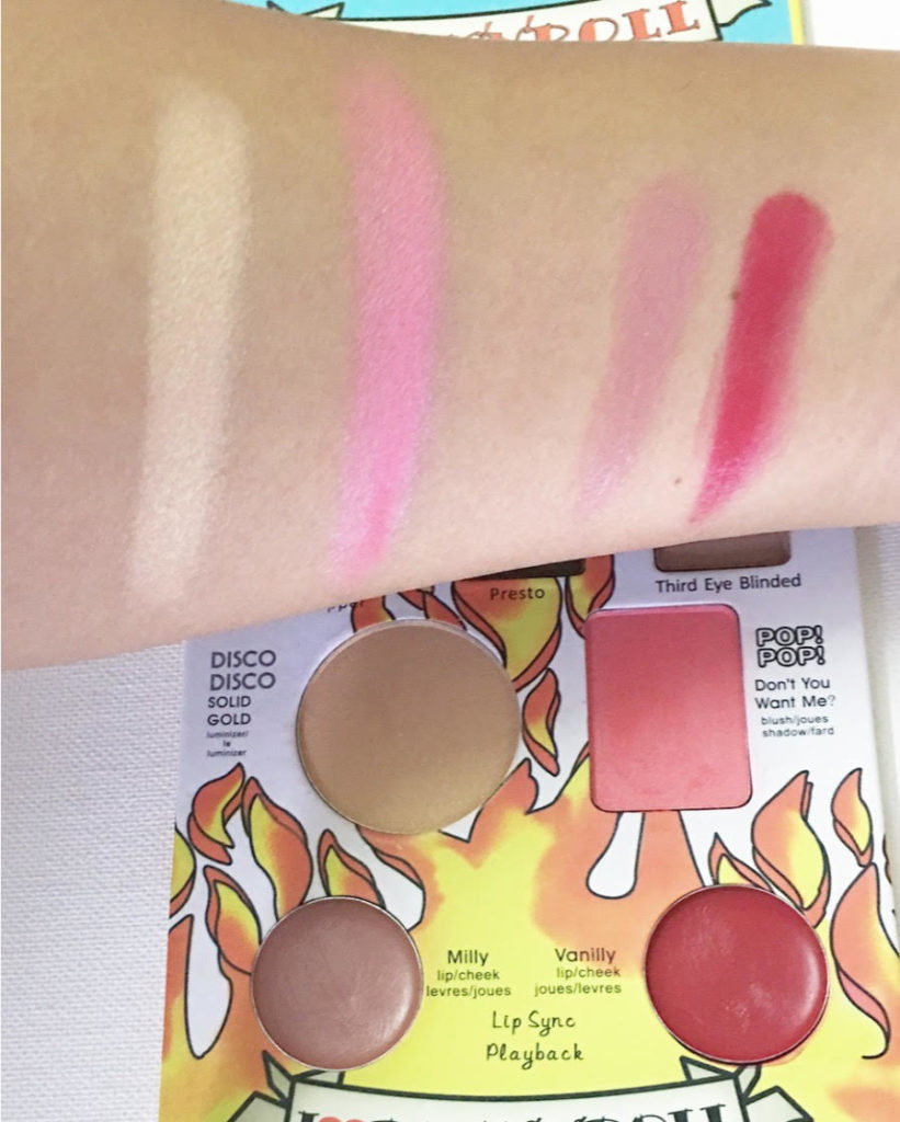 TheADS Balm Jovi Rockstar Face Palette Review - highlighter, blush, lip shades