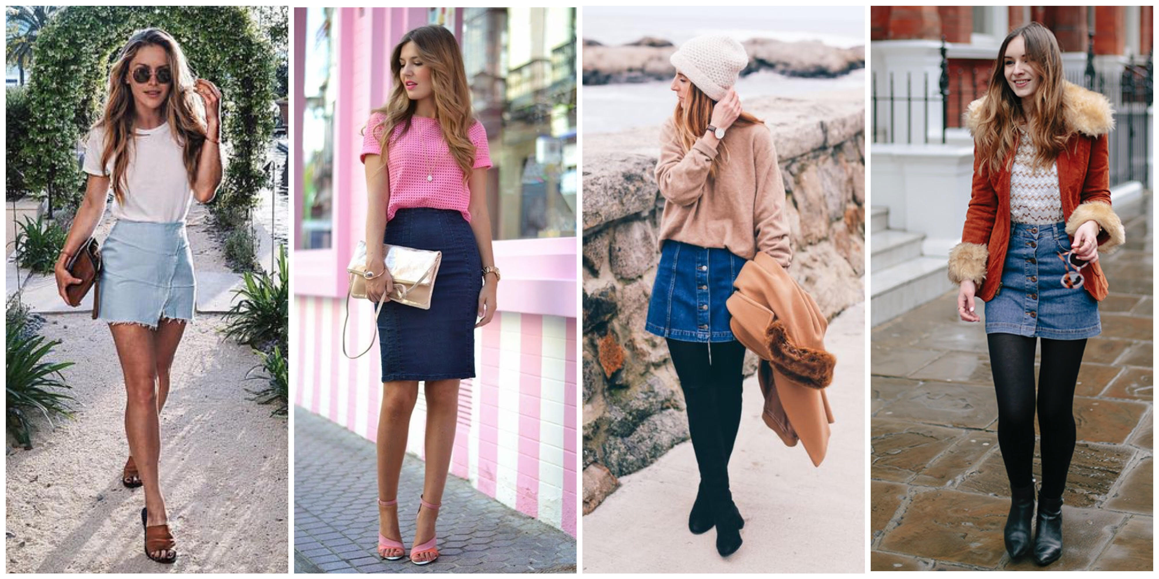 Fashion Series - How to Style a Denim Skirt- 9 Modern Ways | (Part 1)