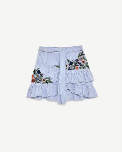 Zara Striped Embroidered Skirt - Zara Website
